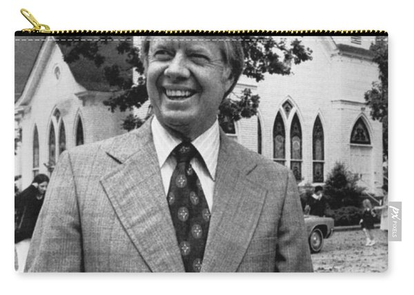 Jimmy Carter Holding His Bible Carry-all Pouch