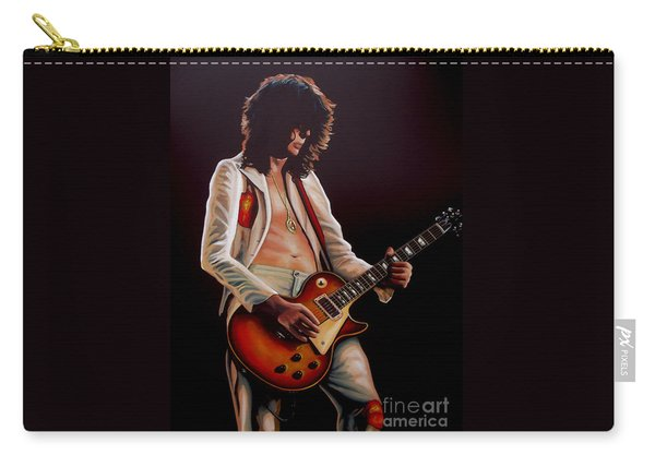 Jimmy Page In Led Zeppelin Painting Carry-all Pouch