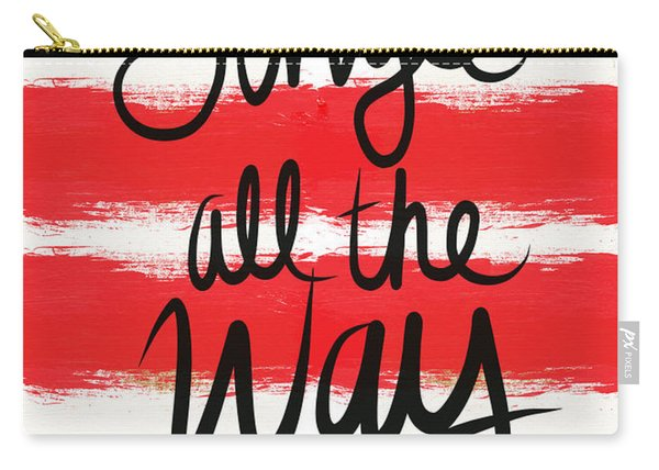 Jingle All The Way- Greeting Card Carry-all Pouch