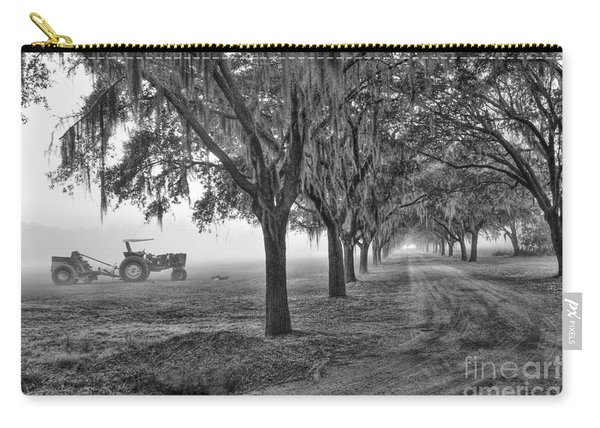 John Deer Tractor And The Avenue Of Oaks Carry-all Pouch