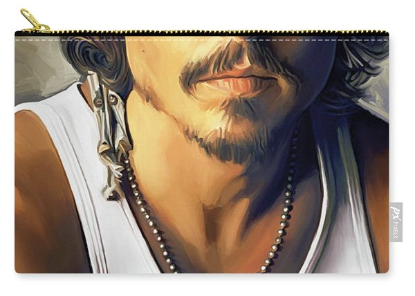 Johnny Depp Artwork Carry-all Pouch