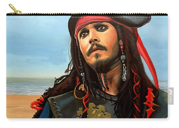 Johnny Depp As Jack Sparrow Carry-all Pouch