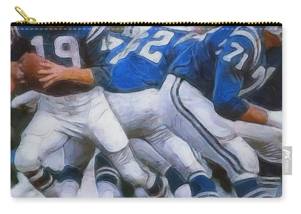Johnny Unitas Painting Carry-all Pouch