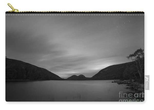 Jordan Pond Blue Hour Bw Carry-all Pouch