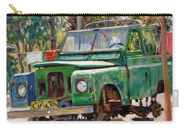 Journeys End, 2006 Oil On Canvas Carry-all Pouch