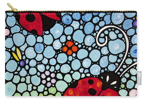 Joyous Ladies Ladybugs Carry-all Pouch