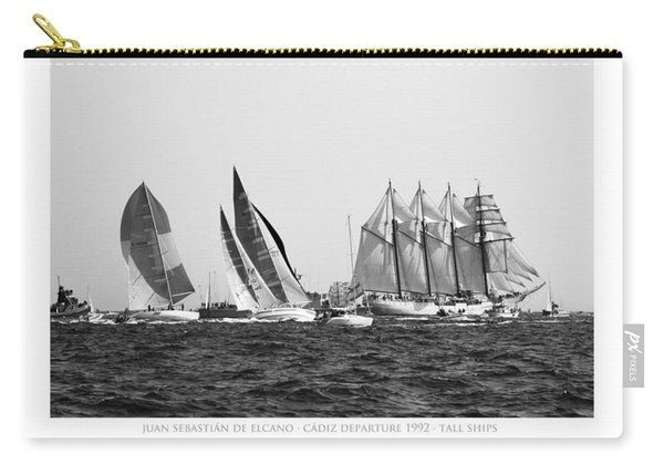 Juan Sebastian Elcano Departing The Port Of Cadiz Carry-all Pouch
