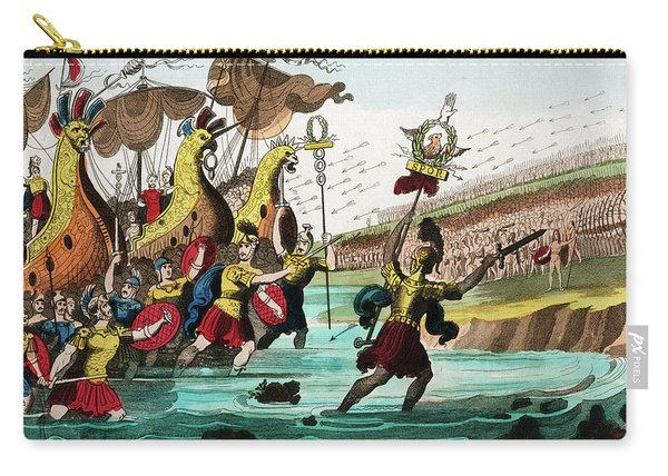 Julius Caesar And Roman Troop Ships Carry-all Pouch