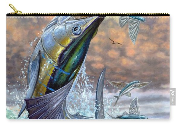 Jumping Sailfish And Flying Fishes Carry-all Pouch