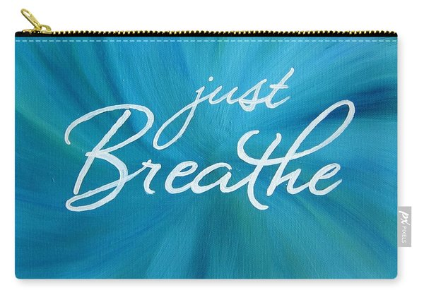 Just Breathe - Aqua Carry-all Pouch