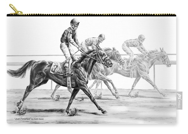 Just Finished - Horse Racing Print Carry-all Pouch