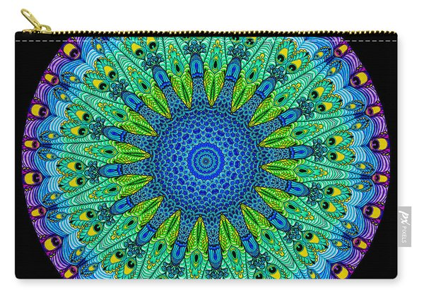 Kaleidoscope Peacock Carry-all Pouch
