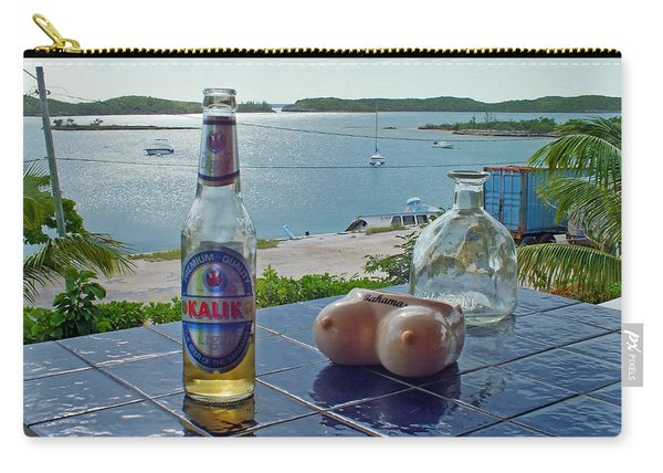 Kalik Beer Bottle At The Front Porch Carry-all Pouch