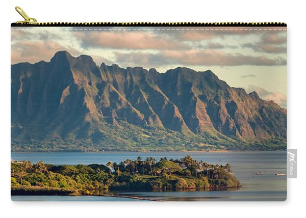 Kaneohe Bay Panorama Mural 2 Of 5 Carry-all Pouch