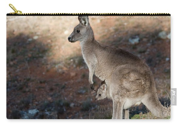 Kangaroo And Joey Carry-all Pouch