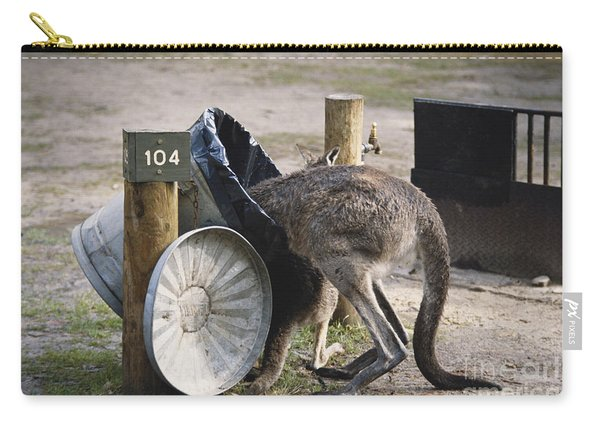 Kangaroo In Garbage Carry-all Pouch