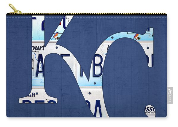Kansas City Royals Recycled License Plate Art Baseball Logo Carry-all Pouch