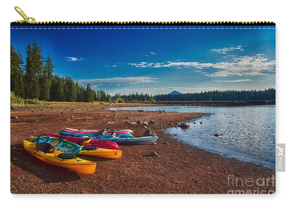 Kayaking On Howard Prairie Lake In Oregon Carry-all Pouch