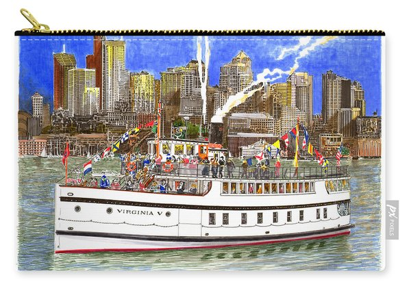 Seattles Steamship Virginia V Carry-all Pouch