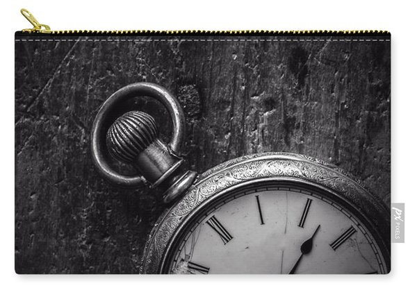 Keeping Time Black And White Carry-all Pouch
