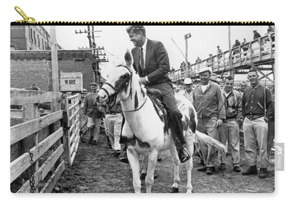 Kennedy Rides A Mule Carry-all Pouch