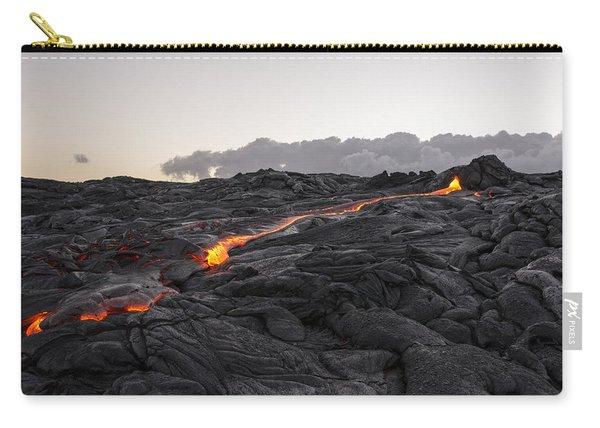 Kilauea Volcano 60 Foot Lava Flow - The Big Island Hawaii Carry-all Pouch