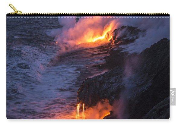 Kilauea Volcano Lava Flow Sea Entry 4 - The Big Island Hawaii Carry-all Pouch