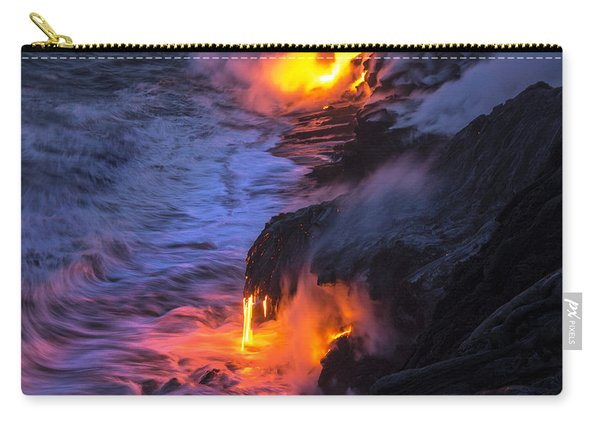 Kilauea Volcano Lava Flow Sea Entry 5 - The Big Island Hawaii Carry-all Pouch