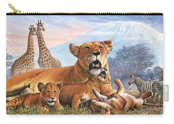 Kilimanjaro Lions Carry-all Pouch