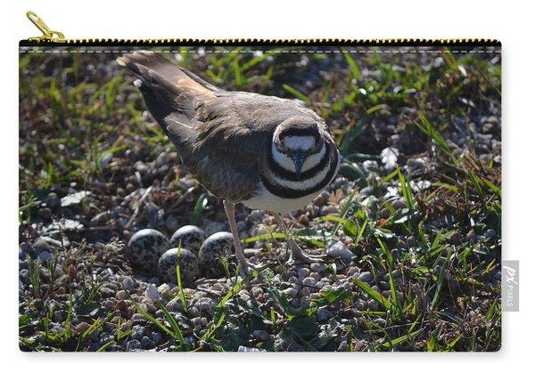 Killdeer Guarding Her Eggs Carry-all Pouch