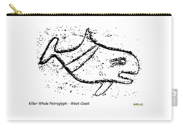 Killer Whale Petroglyph Carry-all Pouch