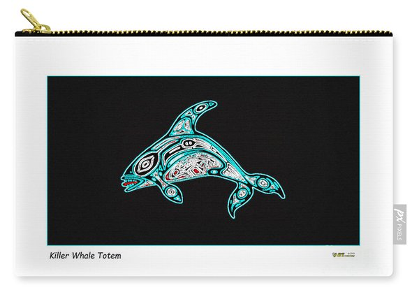 Killer Whale Totem Carry-all Pouch