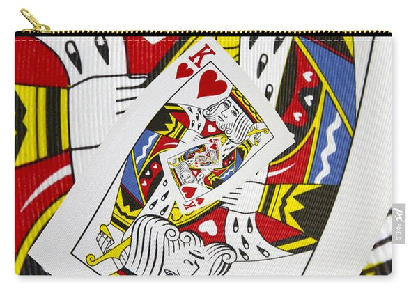 King Of Hearts Collage Carry-all Pouch