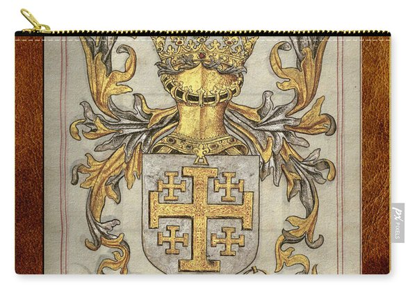 Kingdom Of Jerusalem Medieval Coat Of Arms  Carry-all Pouch