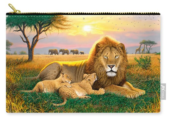 Kings Of The Serengeti Carry-all Pouch