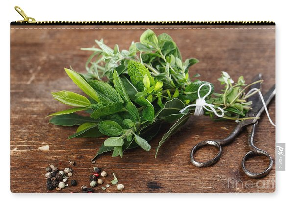 Kitchen Herbs Carry-all Pouch