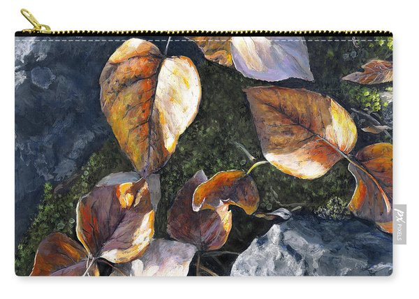 Knik River Autumn Leaves Carry-all Pouch