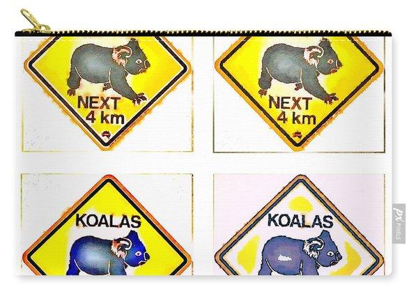 Koalas Road Sign Pop Art Carry-all Pouch