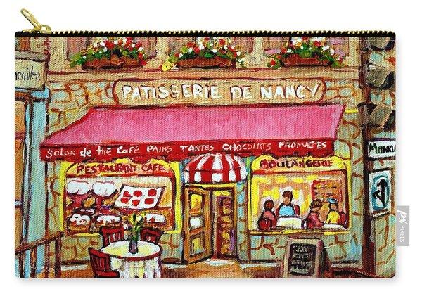 La Patisserie De Nancy French Pastry Boulangerie Paris Style Sidewalk Cafe Paintings Cityscene Art C Carry-all Pouch