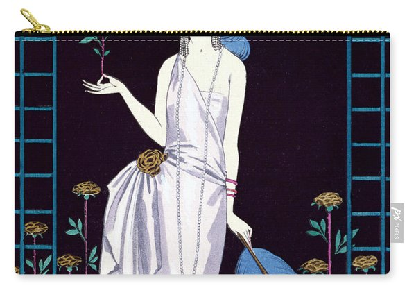 'la Roseraie' Fashion Design For An Evening Dress By The House Of Worth Carry-all Pouch