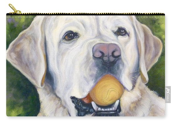 Lab With Orange Ball Carry-all Pouch