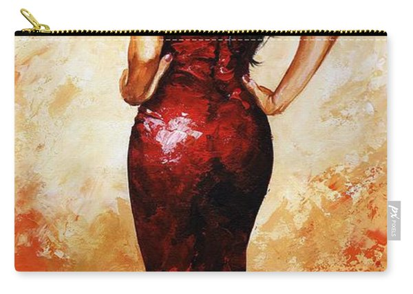 Lady In Red 035 Carry-all Pouch