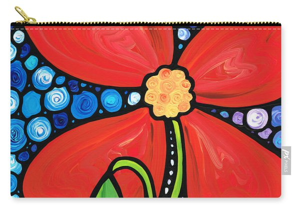 Lady In Red 2 - Buy Poppy Prints Online Carry-all Pouch