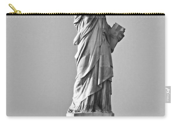 Lady Liberty Black And White Carry-all Pouch