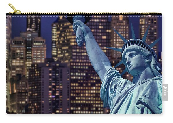 Lady Liberty By Night Carry-all Pouch