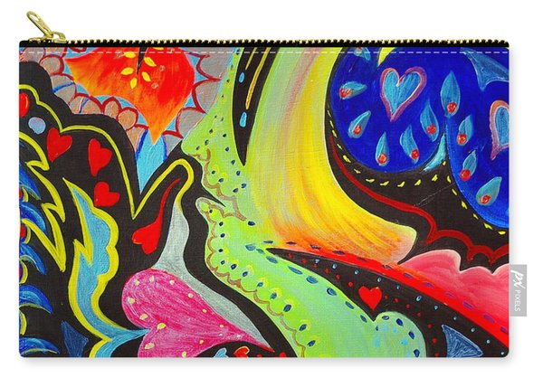 Carry-all Pouch featuring the painting Lady Love by Nancy Cupp