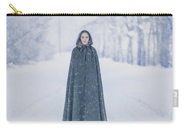 Lady Of The Winter Forest Carry-all Pouch