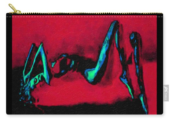 Lady On Red Carry-all Pouch