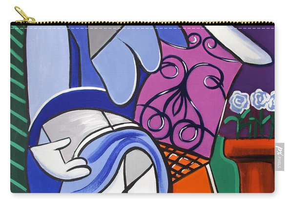 Lady With Blue Dress Carry-all Pouch