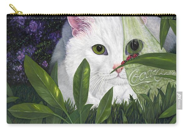 Ladybugs And Cat Carry-all Pouch